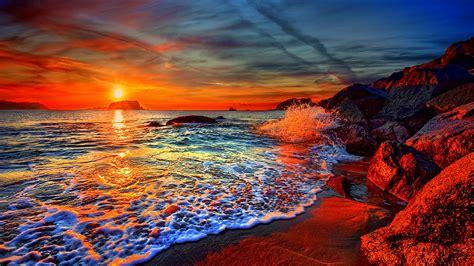 The Iconic Santorini Sunset Greece Hd Wallpaper Backiee