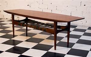 Table Basse Vintage Scandinave : table basse scandinave vintage ann es 50 ann es 60 70 r tro meuble unique ~ Teatrodelosmanantiales.com Idées de Décoration