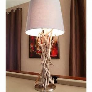 Lampe Chevet Bois Flotté : lampe bois flott achat vente lampe a poser pas cher couleur et ~ Teatrodelosmanantiales.com Idées de Décoration
