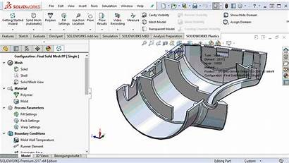 Injection Molding Simulation Solidworks Thickness Solid Flow