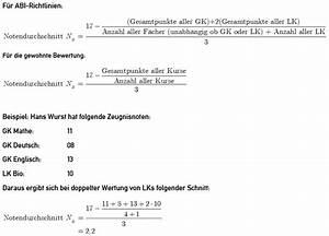 Notendurchschnitt Berechnen : notendurchschnitt in der oberstufe berechnen schule abitur notenschnitt ~ Themetempest.com Abrechnung