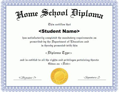 diploma proof printable receipt template