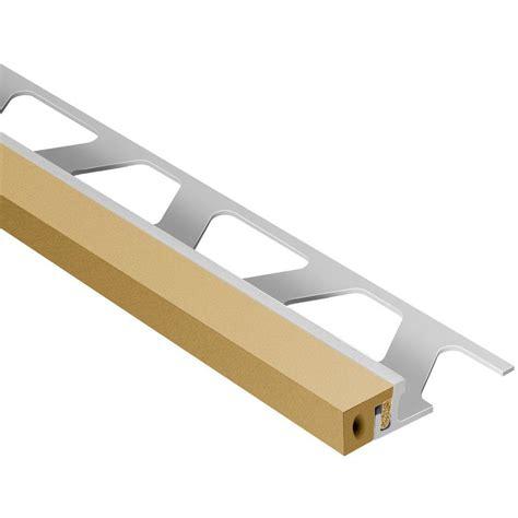Schluter Tile Trim Home Depot by Schluter Dilex Ksa Aluminum With Light Beige Insert 17 32