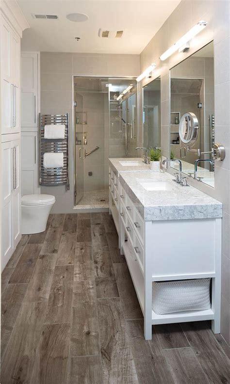 stylish ways  add rustic touches   bathroom