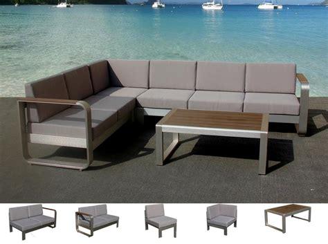 modern outdoor furniture aluminum large size l shaped sofa