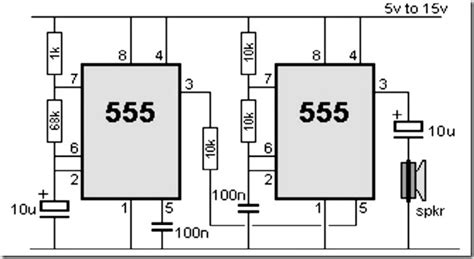 555 timer circuit diagram siren simple schematic collection