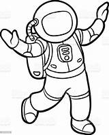 Astronaut Coloring Illustration sketch template