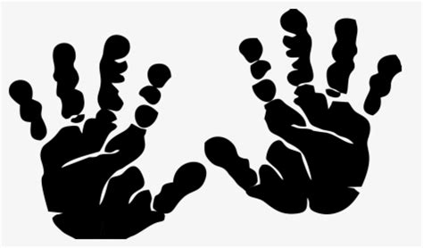 These sets are easy to use for both designers and developers. Hand Outline Handprint Cliparts History Transparent - Hand ...
