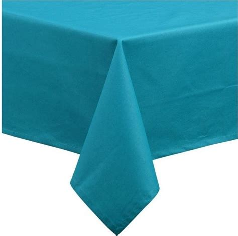 Rectangle Patio Tablecloth With Umbrella by Rectangular Teal 54 Quot X93 Quot Umbrella Tablecloth Modern