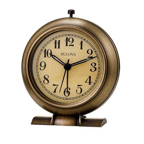 uttermost clock bedside alarm clock la salle metal alarm clock bulova b2024