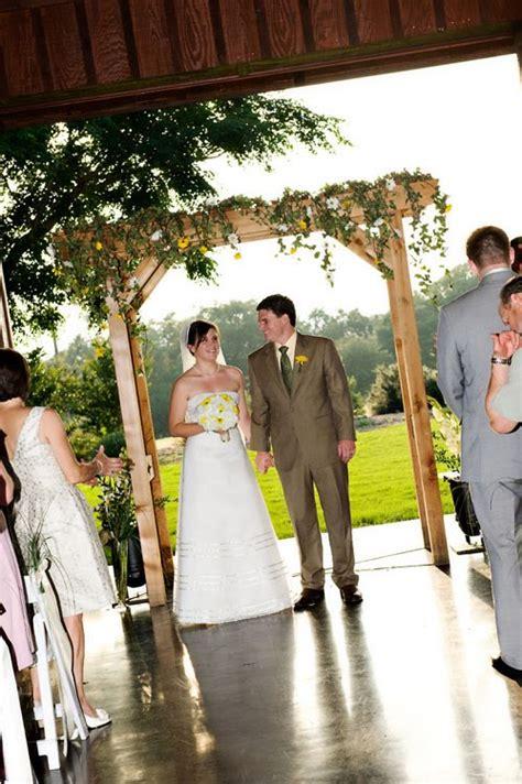 diy attempt wedding arbor