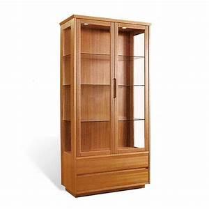 214540 Teak Curio Cabinet Scan Design Modern