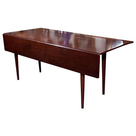 wood dining table with leaves cherry wood dining table with drop leaf at 1stdibs 9259