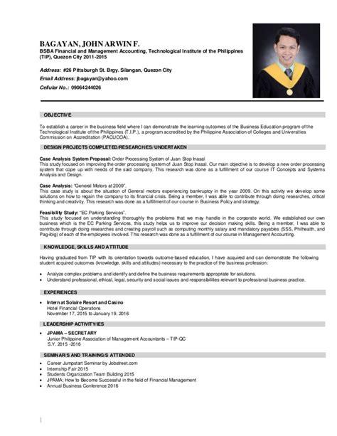 bagayan arwin f resume