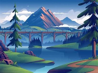 Digital Illustration Nature Illustrations Landscapes Brian Miller