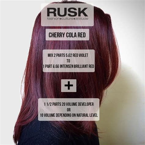 cherry cola hair color formula want a winter color that s subtle yet chic try a cherry