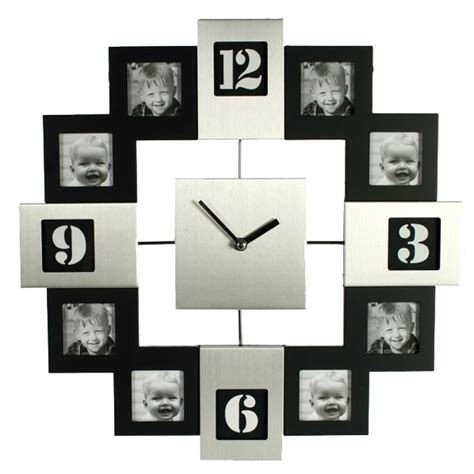 horloge avec cadre photo horloge cadre photo silver et