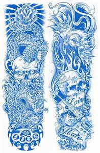 sleeve tattoo designboth sides tattoos picture half With designing a tattoo sleeve template