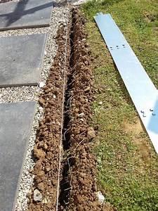 Bordure Beton Jardin : comment poser bordure m tallique acier galvanis pieu ~ Premium-room.com Idées de Décoration