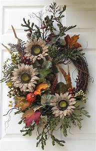 Künstliche Blumen Für Draußen : fall wreath autumn splendor front door wreath seasonal decor outdoor door wreath outdoor ~ Eleganceandgraceweddings.com Haus und Dekorationen