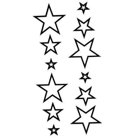 tatouage ephemere  temporaire etoile noire