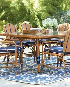 le tapis exterieur la touche deco pour des espaces With tapis exterieur avec bout de canapé rotin