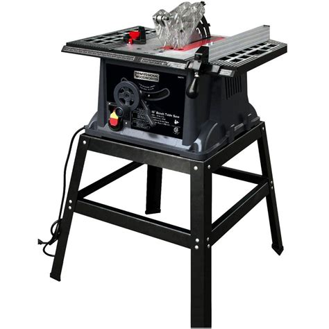 professional table saw reviews professional woodworker 13 amp 10 in industrial bench