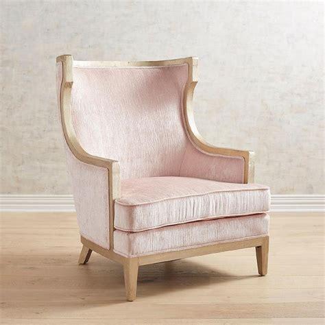 haverhill blush velvet wooden arm chair