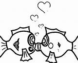 Coloring Underwater Scene Pages Fish Clipart Kissing Popular Library sketch template
