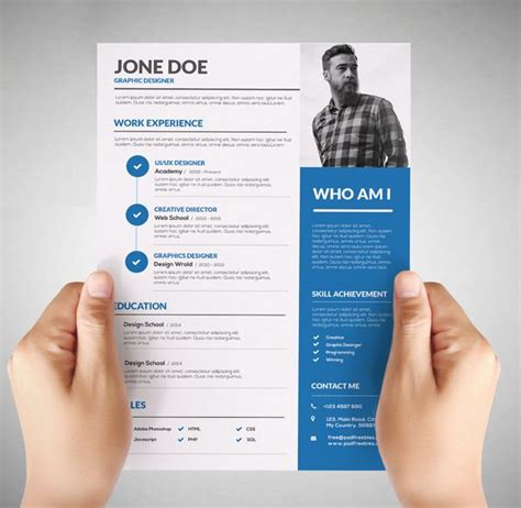 Graphic Resume Templates Free by 25 Best Ideas About Graphic Designer Resume On Graphic Resume Graphic Design