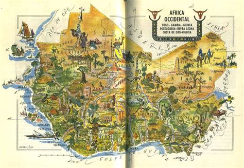 illustrated map  western africa    learn  draw