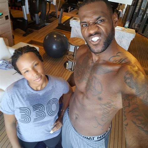 lebron james wifes workout    sweaty
