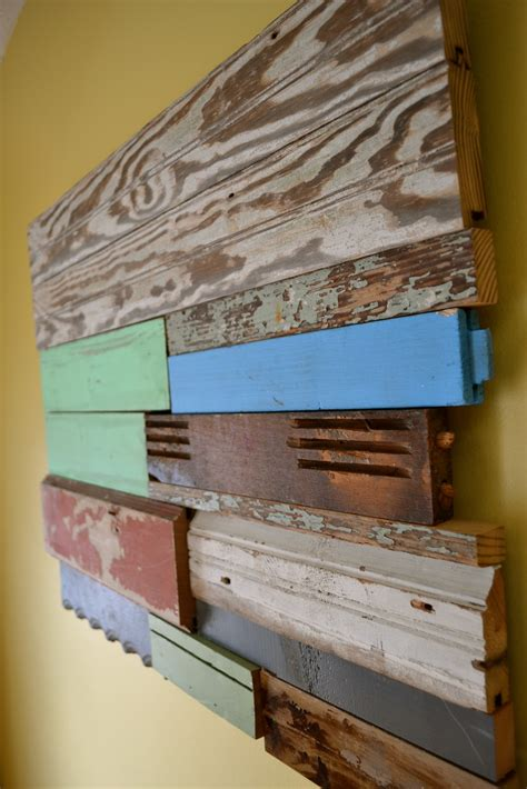 Visit uncookiecutter for full tutorial. The Domestic Doozie: DIY Reclaimed Wood Wall Art