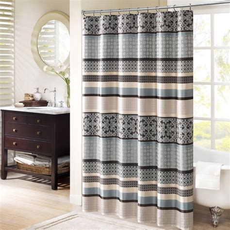 park harvard jacquard shower curtain 2 color