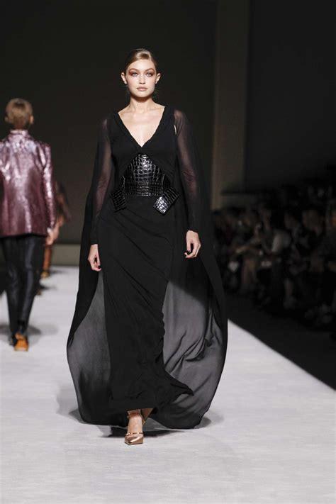 Gigi Hadid  Walking For Tom Ford Ss 2019 Fashion Week In Nyc