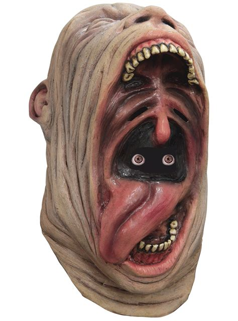 adults crazy gaping mouth digital mask