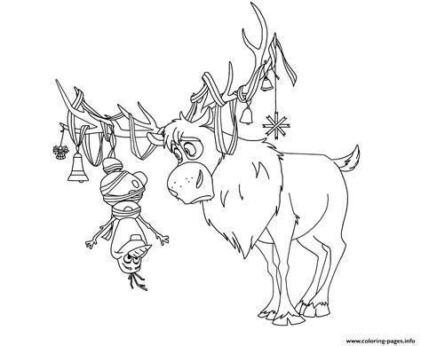 sven reindeer  heart   labrador coloring pages