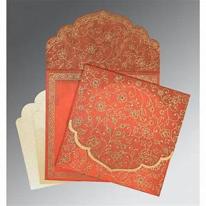 orange wooly floral themed screen printed wedding With wedding invitation cards printing in bangalore
