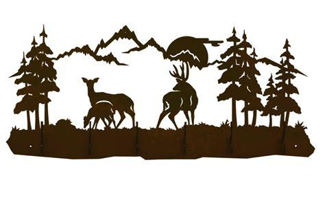 deer scene cliparts   clip art