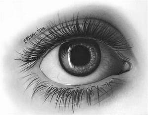 Realistic Eye Pencil Drawing - Drawing Sketch Picture