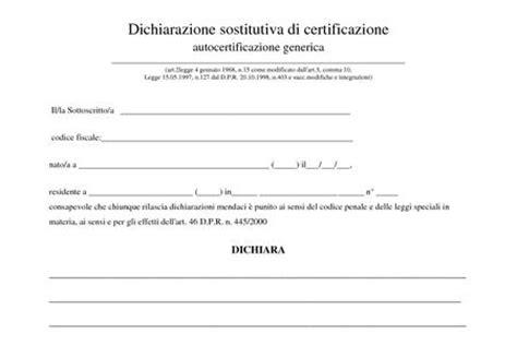 Ufficio Disoccupazione Torino by Modello Per Autocertificazione Di Disoccupazione