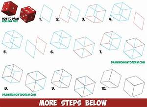 How to Draw Dice Rolling or Being Rolled with Easy Step by ...