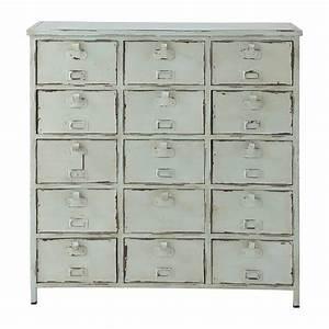 commode cabinet indus bleu vintage edison maisons du monde With cabinet maison du monde