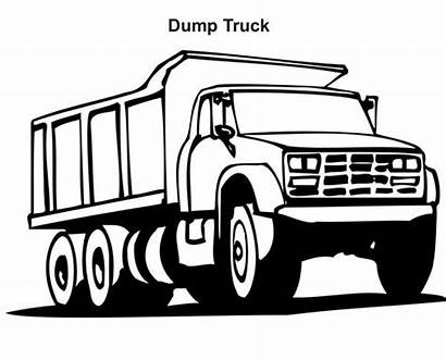 Dump Coloring Truck Pages Printable Ford Garbage