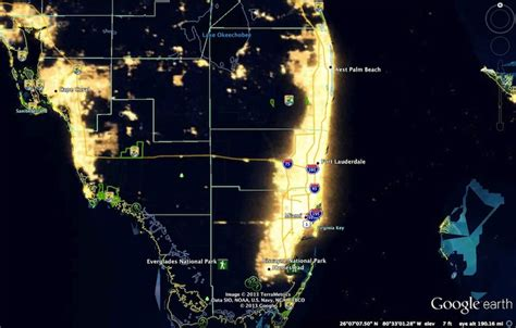 floridia map nasa lights pics about space