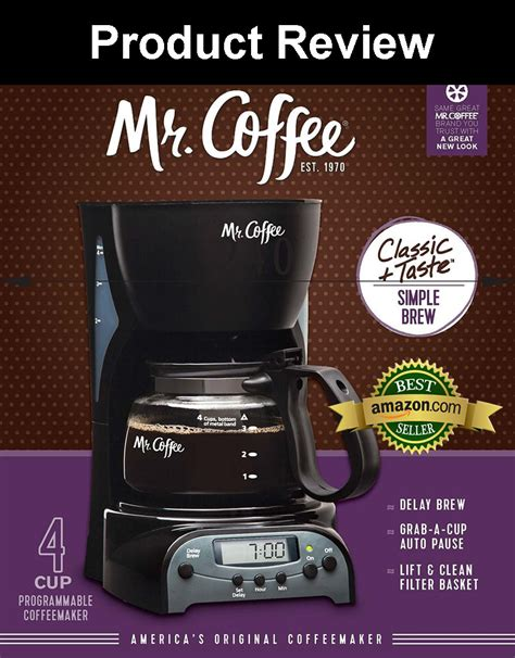 Find helpful customer reviews and review ratings for mr. Mr. Coffee DRX5 4-Cup Programmable Coffeemaker Product Review