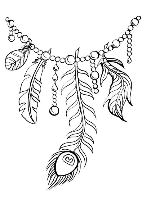 indian feathers coloring pages  getcoloringscom