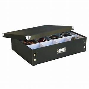 Boite Carton Rangement : boite rangement cravates et ceintures carton noir zeller 17789 ~ Teatrodelosmanantiales.com Idées de Décoration