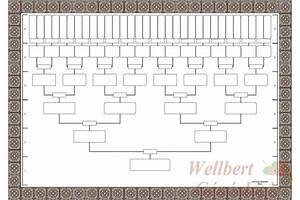 Blank family tree template 6 generations printable empty for Fill in the blank family tree template