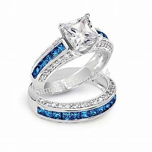 real blue diamond ring wedding promise diamond With 2 in 1 wedding rings